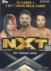 2017 Topps NXT Wrestling sealed blaster box 72 WWE cards plus 1 relic