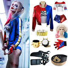 Suicide Squad Women Lady Girl Kid Adult Harley Quinn Fancy Dress Cosplay Costume