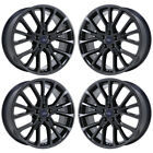 20 FORD TAURUS SHO BLACK CHROME WHEELS FACTORY OEM 2017 2018 SET 10133 EXCHANGE