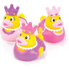 Set of 12 Princess Ducks Assorted Styles Girl Party Favors Yellow Duckies