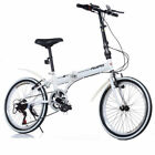 Sport 20 Famous Brand Unisex Folding Bike Bicycle in Black And White 6 Gears