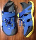TEVA Boys 1 Youth Blue Black Yellow Water Sandals Closed Toe Shoes Sport Hiking
