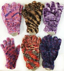 WOMENS FUZZY MAGIC GLOVES WINTER GLOVES GREAT COLORS NICE GLOVES
