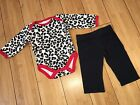 Adorable Baby Girl Outfit 0 3 Months Cheetah Print