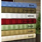 STRIPED BED SHEET SET 4 PC ALL COLORS  SIZES 1000 THREAD COUNT EGYPTIAN COTTON