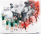 MICHAEL JORDAN & LARRY BIRD Dual Signed All Star 20 x 24 Photo UDA LE 50