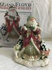 NIB Fitz and Floyd Holiday Musicals WINTER HOLIDAY SANTA ~ Plays O' HOLY NIGHT