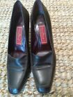 Cole Haan Womens Dark Brown Shoes Leather Square Toe Loafer Pumps Size 85B