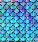 Blue fish scales curtain waterproof bath shower curtain-with hook set-120*180CM