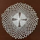 Beautiful Vintage Hand Crocheted Little Doily 6 Cream Ivory Round