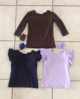 Girls size 6 Adorable Essentials shirt and bow lot