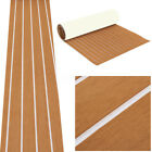 Brown Self Adhesive EVA Foam Teak Sheet Boat Yacht Synthetic Decking 35 X 91