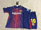 Barcelona Home Messi kids Soccer Jersey Youth Boys Set Child Shirt Medium 10 11