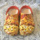 Unisex Orange Yellow Printed Crocs Size W6 M4