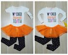 Carters Girl Outfit 18 2T Halloween Set Wicked Sweet Top Tutu Skirt Legging Pant