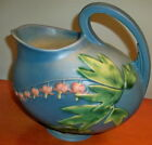 Roseville Pottery BLUE #1323  Water Pitcher -