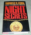SIGNED NIGHT SECRETS by Thomas H Cook 1990 HC DJ 1st Edition EXCELLENT