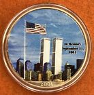 2001 9 11 American Eagle Silver 1 oz New York NY Colorized Memorial Bullion Coin