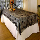 Halloween Lace Black Spider Web Tablecloth Indoor Bar Party Decor Table Cover