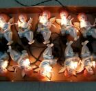 Vintage Angels Christmas Lights Strand of 10 Cherubs with Candle New Old Stock