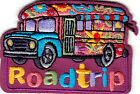 ROAD TRIP IRON ON EMBROIDERED PATCH VACATION TRAVEL BUS SIGHTSEEING