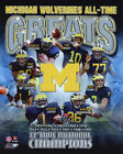 MICHIGAN WOLVERINES All Time Greats Glossy 8x10 Photo College Football Poster