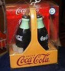 Vintage Coca-Cola Bottle Beach Party Ceramic Salt And Pepper Shaker Set