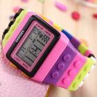 SHHORS Blocks Candy Constructor Digital LCD Backlight Child Sport Wrist Watch
