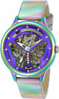 Invicta Womens Wildflower Automatic Iridescent S Steel Leather Watch 24566