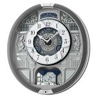 Seiko Melodies In Motion 18 HiFi Melodies Pendulum Wall Clock QXM366SRH