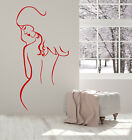 Vinyl Wall Decal Beautiful Sexy Naked Girl Back Face Stickers 1797ig