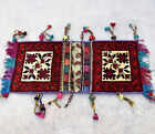 Hand Knotted Saddle Bag Saddlebag Handmade Khorjin Handwoven Boho Woven Tribal