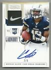 2013 Keenan Allen National Treasures PATCH AUTO Autograph RC SSP 2 5 SD Chargers
