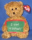 TY SCHOOL ROCKS the BEAR BEANIE BABY ( 2 COOL 4 SCHOOL! ) - MINT with MINT TAG