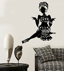 Vinyl Wall Decal African Woman Turban Native Black Girl Stickers 1824ig