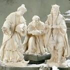 3 Kings Magi Outdoor Statues Best Nativity Set 3pc 27 inch Wisemen White