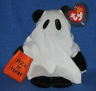 TY SHUDDERS the HALLOWEEN GHOST BEANIE BABY - MINT with MINT TAGS