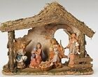 FONTANINI 5 NATIVITY SET w STABLE HOLY FAMILY ANGELS 54463  FREE SHIPPING