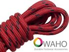 Red with Black Kevlar  Heavy Duty Reinforced Shoe Boot Laces