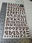 AMERICAN CRAFT THICKERS BLISS BROWN GLITTER CHIPBOARD LETTER STICKERS NEW A6202