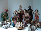 Vintage Japan Christmas Nativity 11 pc Set Composition Paper Mache LARGE 12