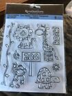 Recollections Clear Stamps Zoo Lucius Baby Zoo Animals Monkey Lion Giraffe