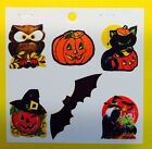 Vintage HALLOWEEN Eureka PRESTO STICK Self Adhesive Sticker Seals Die Cut Sheet