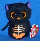 TY SCAREDY the CAT HALLOWEENIE BEANIE BABY - MINT with MINT TAGS
