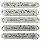 Tim Holtz Idea ology CHRISTMAS Word Bands Findings TH93630
