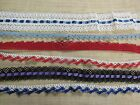 ASSORTED STYLES OF CROCHET SEWING LACE TRIM AROUND 50 yards B