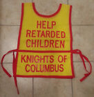 Mint Very Rare Old Knights Of Columbus HELPING THE RETARDED Donation Vest