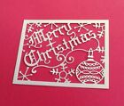 4 Merry Christmas Topper Die Cut For A2 Card