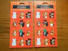 Lot of 2 Packages Retro 1998 Gibson Halloween Stickers Animals in Costumes
