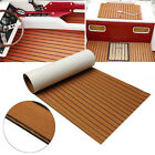 95 x 35 x02 EVA Foam Teak Sheet Boat Yacht Synthetic Teak Decking With Glue